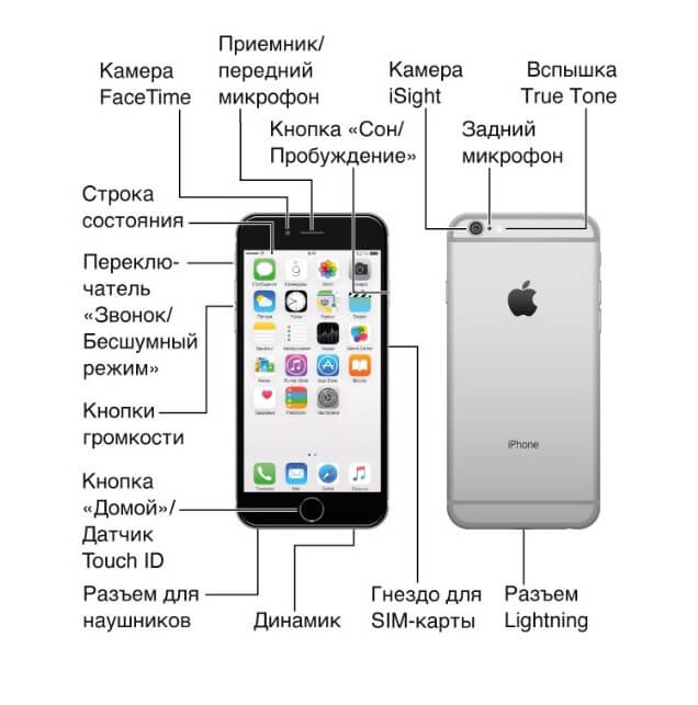 Инструкция по iPhone 3G 3GS, 4, 4S 5 5S 6