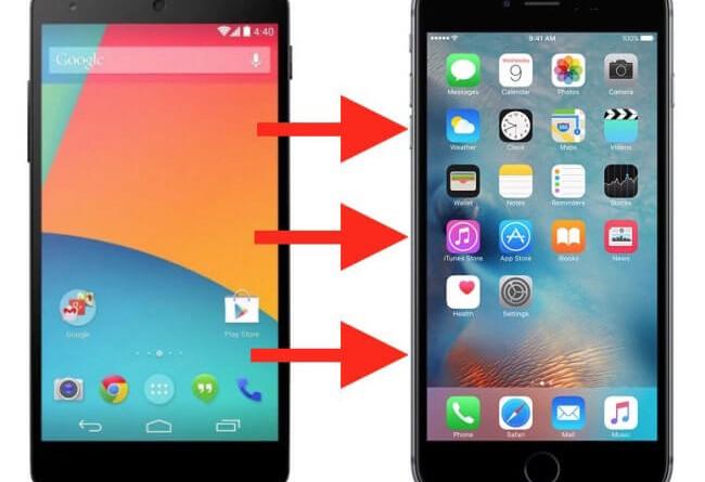 Как перекинуть данные с Андроида на Айфон